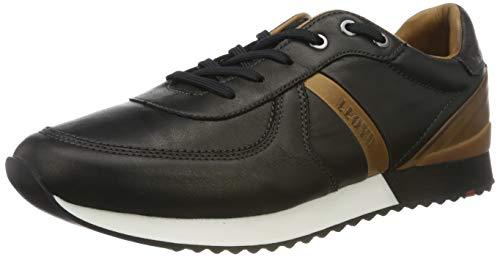 LLOYD Herren Earland Sneaker, Schwarz (Black/New Nature 0), 41 EU
