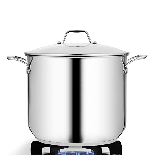 12 qt stock pot stainless steel - 9