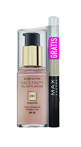 Max Factor All Day Flawless Foundation 80 Bronze plus Mastertouch Concealer 309 beige, 1er Pack (1 x 2 Stück)