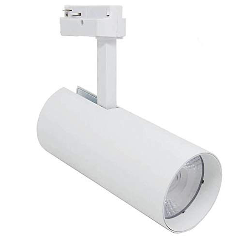 Faretto LED 30W Bianco per Binario Monofase Sistemi di illuminazione a cavo e su binario (K3000)