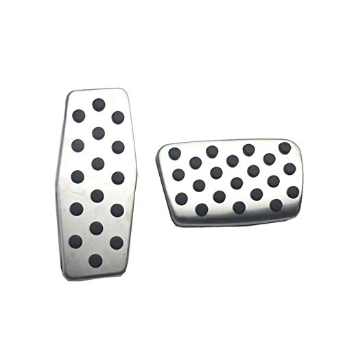 PREPP Manual/Auto Acero Inoxidable Pedal Pedal Pads Fit For Vauxhall Opel Corsa Cascada Zafira Fit For Buick (Color Name : AT)