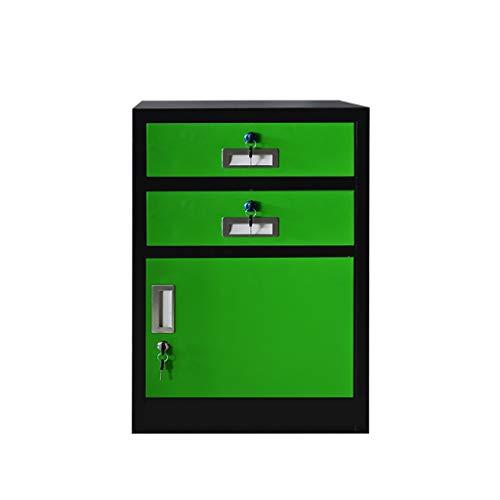 QSJY Bestand Kasten Demontage Brandwerende en duurzame grote ruimte met slot metalen kast vak ontwerp opslag bescherming belangrijke documenten 44 * 39 * 70cm