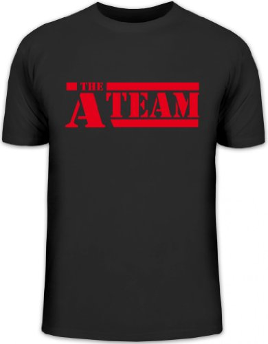 Shirtstreet24, A-Team, Kult Serie Shirt, Größe: M,schwarz