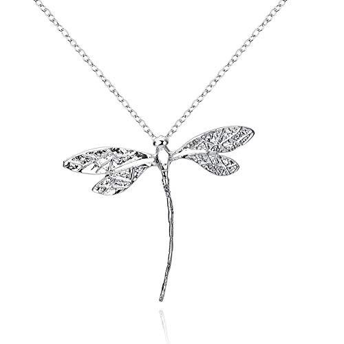 Zhichengbosi Collar con colgante de libélula, cadena de 45,72 cm para adolescentes y mujeres
