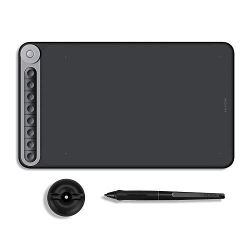 HUION 2019 Inspiroy Dial Q620M Android Compatible con Android Tablet gráfica de Dibujo inalámbrica con Driver de Marco, lápiz...