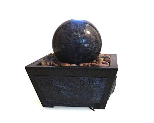 SAUERLAND Wasserspiel mit Marmor Kugel Ocean Green, inkl. Behälter, Zimmerbrunnen