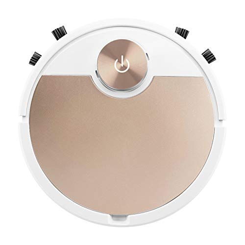 LOVIVER Aspiradora de Robot, conectividad Bluetooth, aspiradora robótica PA 3000, protección de Sensor Inteligente, para pelos de Mascotas, Suelo Duro y - Champaign de Oro