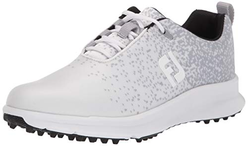 FootJoy Women's FJ Leisure Golf Shoes, White, 8 W US