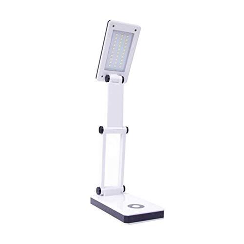 Lámpara de protección ocular Tabla LED Desk lámpara portátil de viaje plegable de la lámpara de lectura de la batería Luz Desarrollado en 2 pasos Botón Protección de los ojos de atenuación de la lámpa
