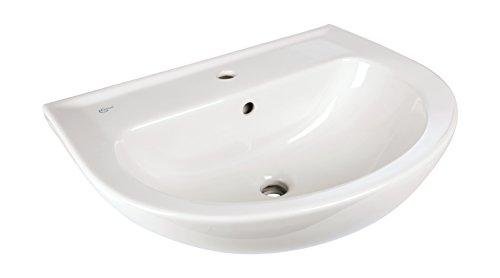 Ideal Standard Waschtisch Palaos, Waschbecken mit Überlauf, 60 x 46,5 cm, Keramik, Weiß, 56751 0