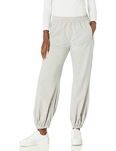 Norma Kamali Women's Pant, HTHR Grey, XL/38