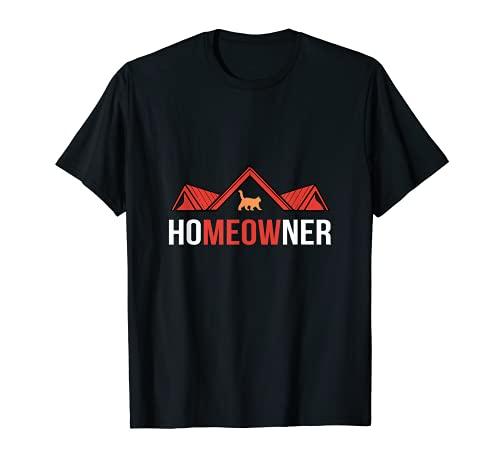かわいい猫 不動産 Realtor Pun New Home Owners Cats Lover Tシャツ