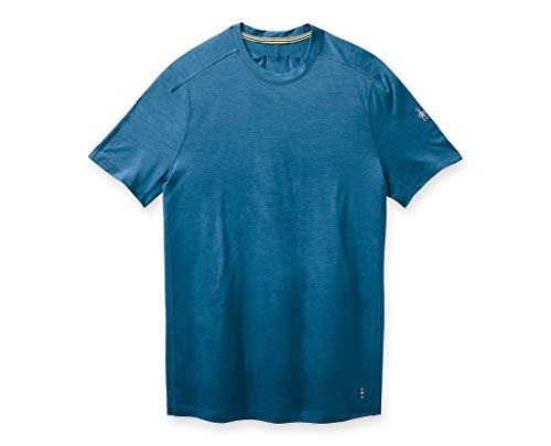Smartwool Men's Sport 150 Tech T-Shirt Regular Fit Light Neptune Blue Heather, Large