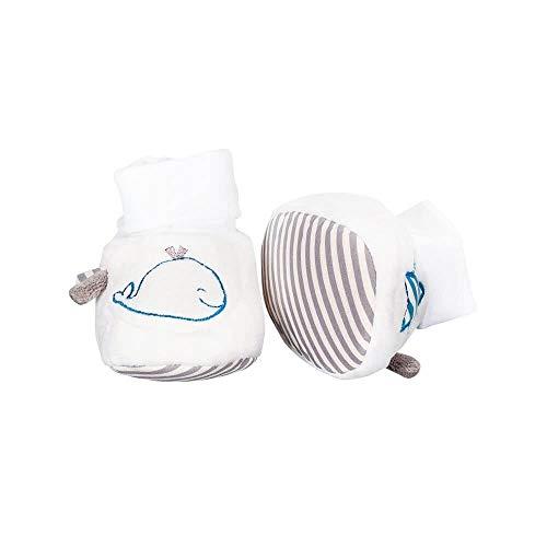 Chaussons bébé 0-6 mois Blue Baleine - Sauthon Baby Deco