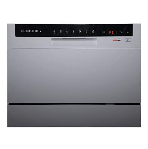 Cookology Mini Counter top, Tabletop Dishwasher, 6 place settings (Silver)