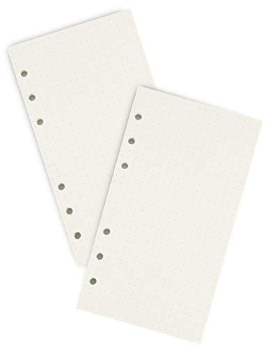 Miliko A6 Planner/Organizer Vullingen Set-2 Vullingen per Pack, 3,7×6,7 inch, 90 pagina's/45 vellen per item (Dot Grid…