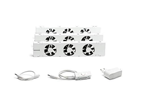 SpeedComfort STANDARD Starter-Set Trio: Smarter Heizkörrper Verstärker Ventilator für Heizungen mit mind. 70mm Platten Zwischenraum zur Befestigung unter dem Heizkörper, Energie & Heizkosten sparen