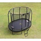 JumpKing-Cama elástica OvalPod forma ovalada, tamaño pequeño, diámetro: 3,5 m