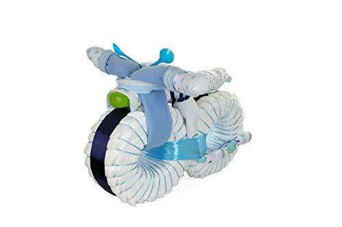 XXL Windelmotorrad #1 - blau - Einzigartige Windeltorten von dubistda