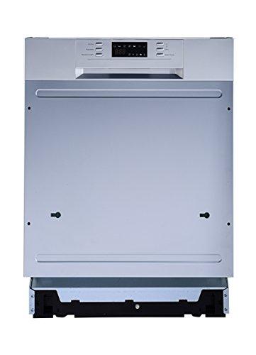 PKM DW12 7TI Silber Einbau-Geschirrspüler, integrierbar, 60 cm, E, 12 Maßgedecke