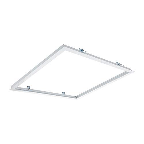 LEDKIA LIGHTING Cornice a Incasso per Pannelli LED 60x60cm Bianco