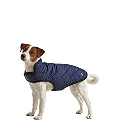 Rosewood Joules Quilted Dog Coat S, Navy Blue, 200 g
