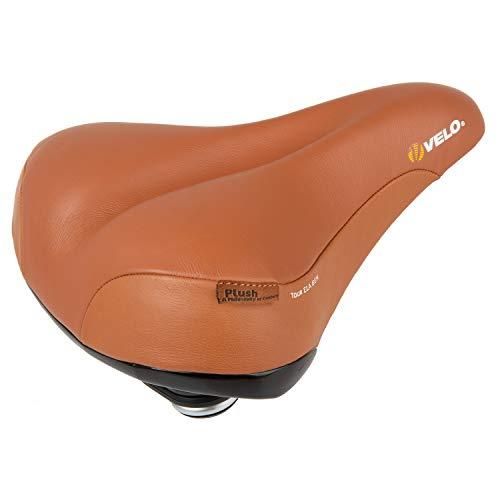 Velo Tour Ela Gen Plush Fahrradsattel Sattel aus echtem Leder mit Elastomerfederung