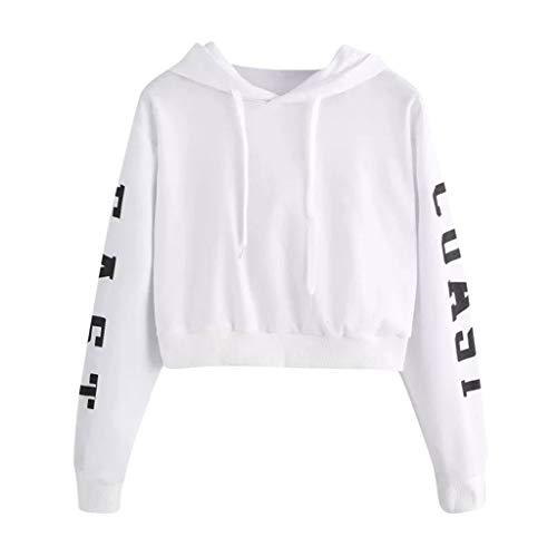 URIBAKY - Sudadera con capucha de manga larga para mujer con capucha, camiseta fina, informal, para deportes, con estampado de letras East Coast