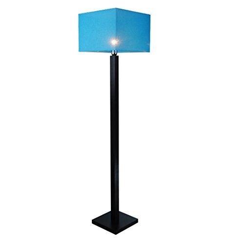 Stehlampe, Stehleuchte - HausLeuchten - LP4TUD - WENGE - Massivholz, Deckenfluter, Standleuchte (TÜRKIS)