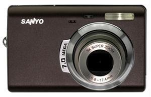 Sanyo VPC-T700T 7MP Digital Camera Cafe Brown
