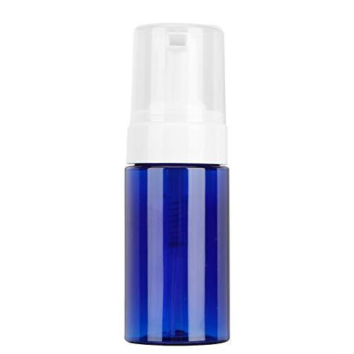 BLLBOO Tragbare Mousse Schäumende leere Flasche nachfüllbare Spielraum-Dispenser Container (Pumpenkopf Blau)