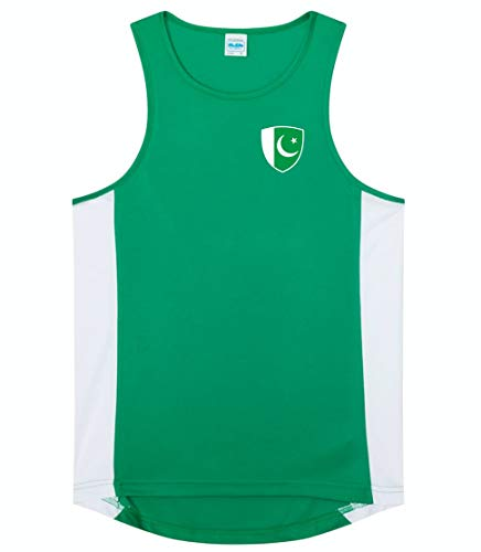 Nation Pakistan Trikot Top Ärmellos Training ATH BR-GE (S)