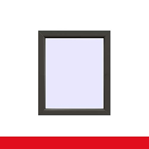 Festverglasung einflügeliges Fenster | Quarzgrau Glatt