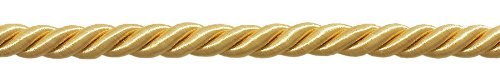 29.7 Meter Package of 10mm LARGE LIGHT GOLD COLOR DECORATIVE CORD, Basic Trim Collection, Style# 0038NL Color: B7 (98 Ft.)