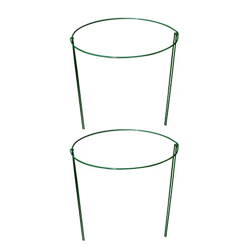 Yardwe 2PCS Garden Plant Support Climbing Plants Support Ring Garden Trellis Flower Stainless Steel Support Heavy Duty Peony Cage Plant Support Random Color