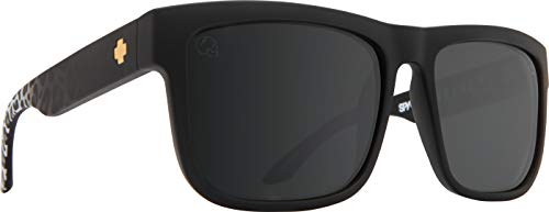 Spy Optic Discord Polarized Flat Sunglasses (SLAYco Matte Black Leopard Fade - Happy Gray Green W/silver)