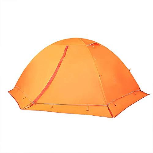 ZR Tente extérieure Simple Couple Double Famille Camping Ultra léger épaisseur Chaud Double pôle Aluminium Alpinisme Camping Orange