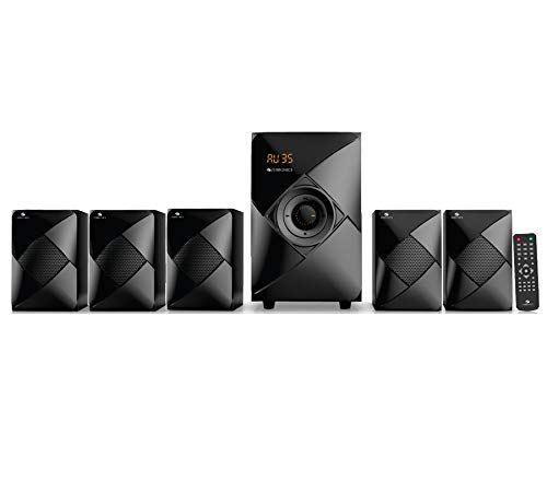 Zebronics ZEB-BT6790RUCF 5.1 Multi Media Speakers with USB Input, FM Radio and...