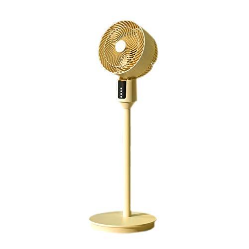 Ventilador Eléctrico De Siete Velocidades con Velocidad del Viento Ajustable, Suministro De Aire por Convección De La Turbina, Buen Aire Sin Salir De Casa,Amarillo