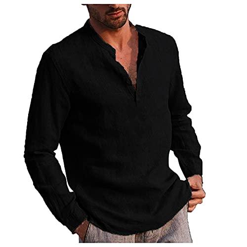 Men's Cotton Linen Shirts Short Sleeve Summer Floral Button Down Hawaiian Shirt Relaxed Fit Vintage Casual Beach Tops