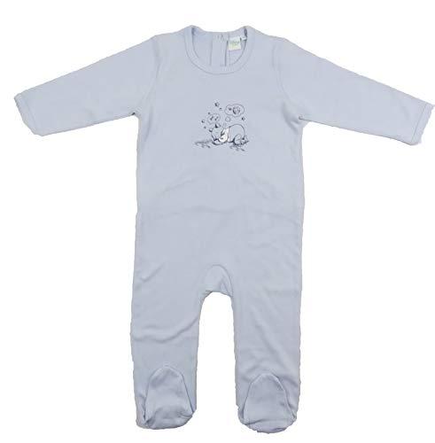 Babies Disney Unisex Schlafanzug Strampler Footsie Dumbo Winnie Puuh Gr. 86 cm(18-24 Monate), Blue Winnie Puuh