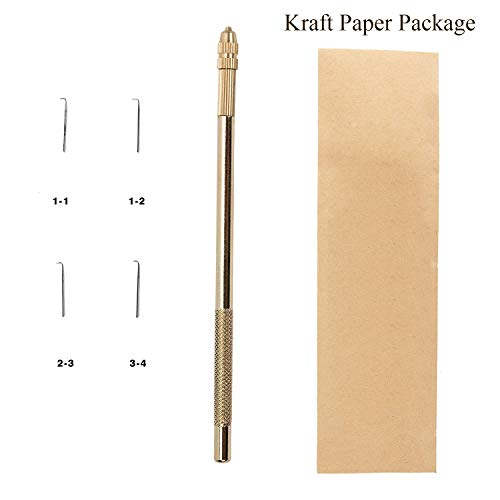 Aiguille1 Holder& 4 Needles(1-1,1-2,2-3,3-4 Strands) For Ventilating Wigs