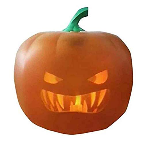 WLCY Halloween Flash Talking Animated LED Pumpkin Projection Lamp, Interesting 3 in 1 Halloween Decoration Projector Pumpkin Night Light, for Home Party