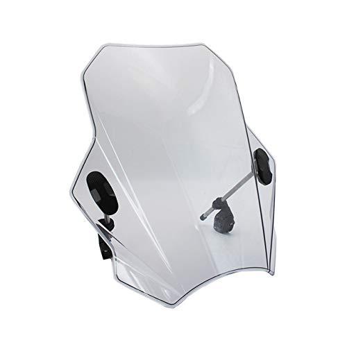 LSJGG Parabrisas Deflector De Viento Motocicleta Parabrisas Deflector De Viento con Soporte Ajustable Fit For Yamaha Suzuki Kawasaki Parabrisas de la Motocicleta (Color : Grey)