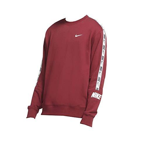 Nike – Sudadera Sportswear Repeat para hombre de camiseta cuello redondo CZ7828 677 burdeos – M, burdeos