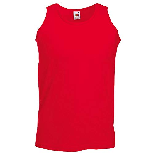 Fruit of the Loom Herren Tank Top Valueweight Athletic Vest 61-098-0 Red XL