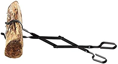"""Rocky Mountain Goods Firewood Tongs - Reinforced Wrought Iron for Extra Strength - 26"""" - Log Grabber for up 12"""" Thick logs - Log - Rust Resistant Finish Fireplace Tongs for Indoor/Outdoor (1)"""