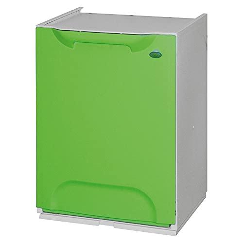 Art Plast R34/1V Cassonetto modulare per la raccolta differenziata, in plastica, verde/lime bianco
