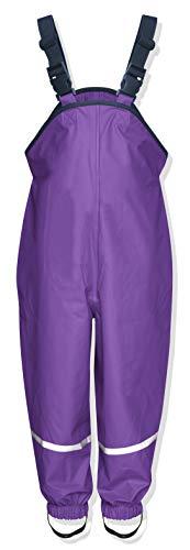 Playshoes Unisex Baby Regenlatzhose Textilfutter Regenhose, Violett (Lila), 104
