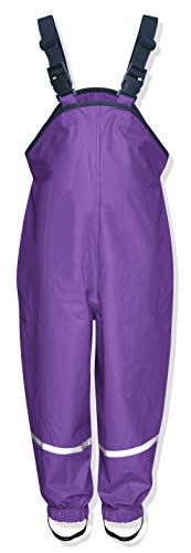 Playshoes Unisex Baby Regenlatzhose Textilfutter Regenhose, Violett (Lila), 128